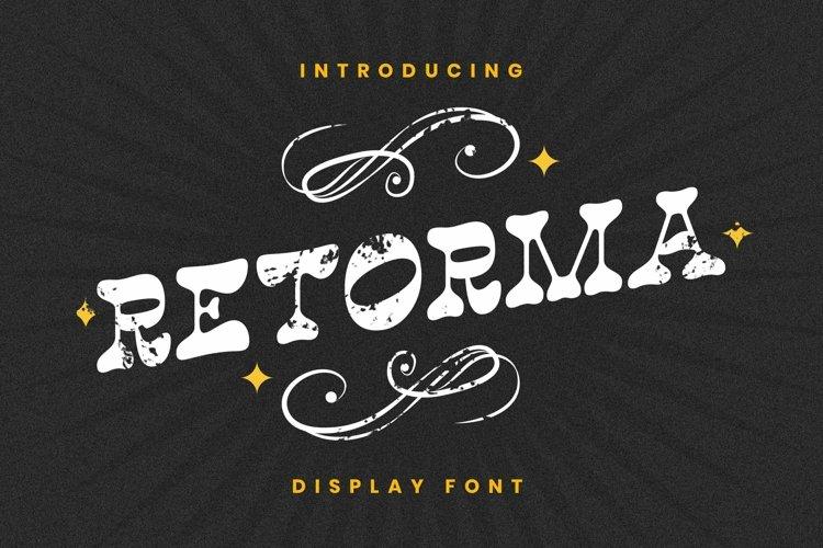 Web Font Retorma Font example image 1