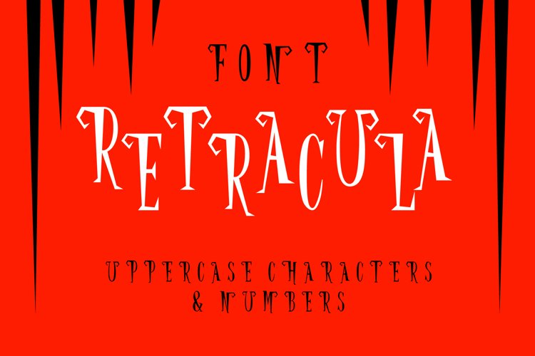 Retracula Font - Sharp like Dracula teeth example image 1