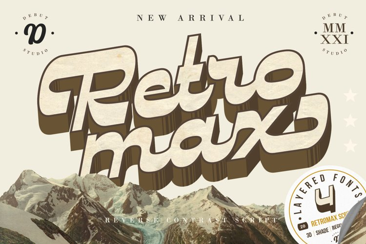 RETROMAX // Reverse Contrast Script with Layered Style example image 1