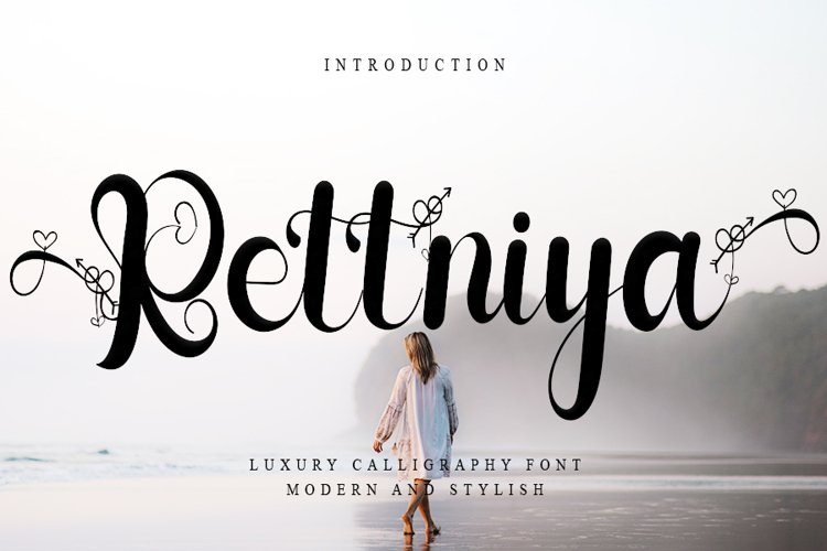 Rettniya - luxury Calligraphy Font example image 1