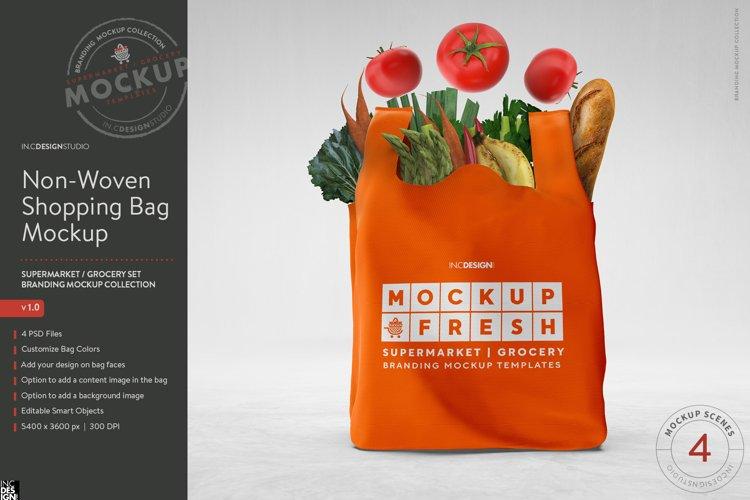 Non Woven Shopping Eco Bag Branding Mockup