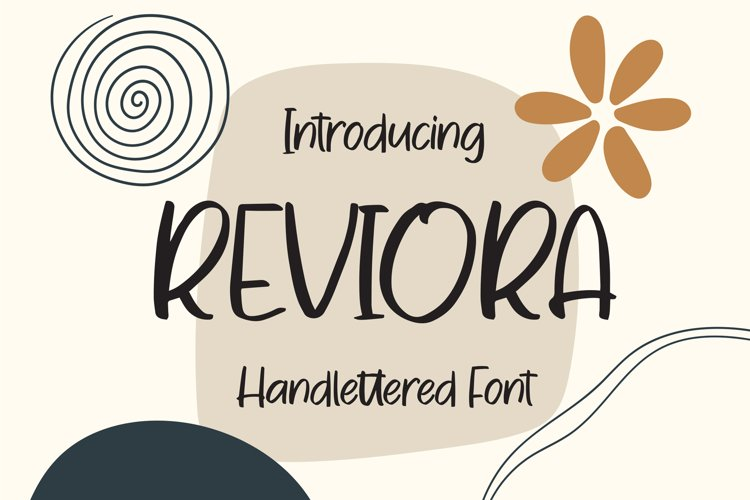 Reviora - Handlettered Font example image 1