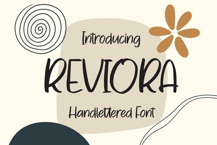 Web Font Reviora - Handlettered Font example image 1