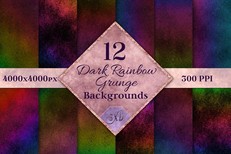 Dark Rainbow Grunge Backgrounds - 12 Image Textures