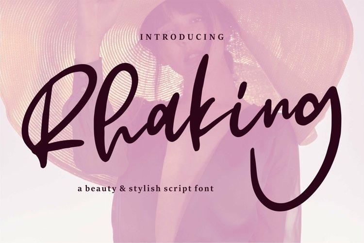 Web Font Rhaking - A Beauty & Stylish Script Font