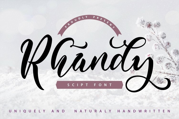 Web Font Rhandy - Uniquely & Naturally Handwritten example image 1