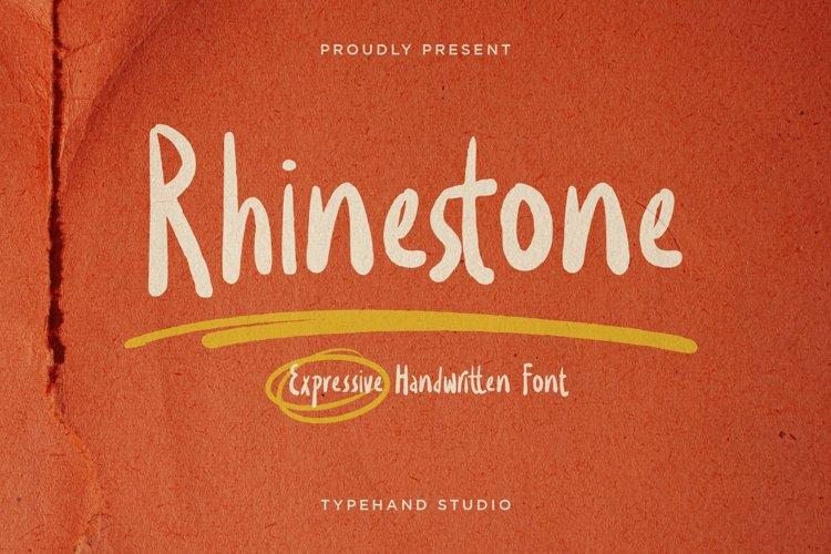 Rhinestone - Expressive Handwritten example image 1