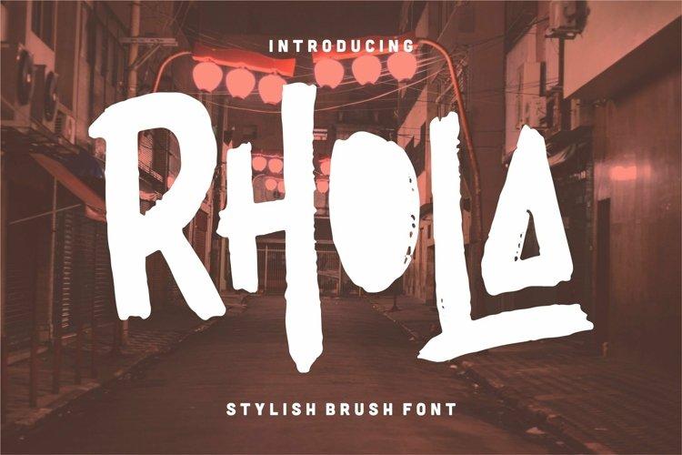 Web Font Rhola - Stylish Brush Font example image 1