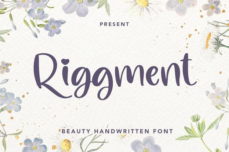 Web Font Riggment - Beauty Handwritten Font example image 1