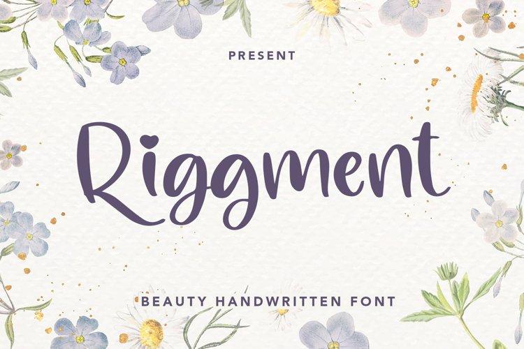Riggment - Beauty Handwritten Font example image 1