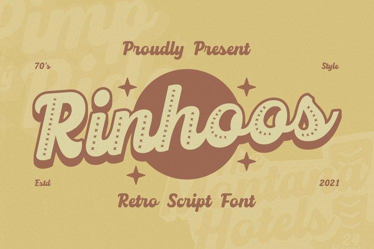 Web Font Rinhoos Font example image 1
