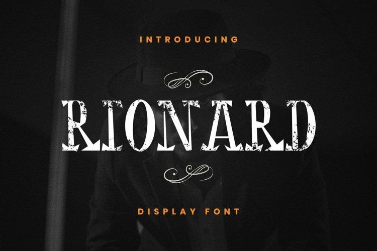 Web Font Rionard example image 1