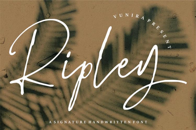 Web Font Ripley - A Signature Handwritten Font