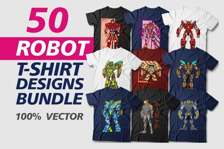 Robot T-shirt Design Bundle Vector Sublimation
