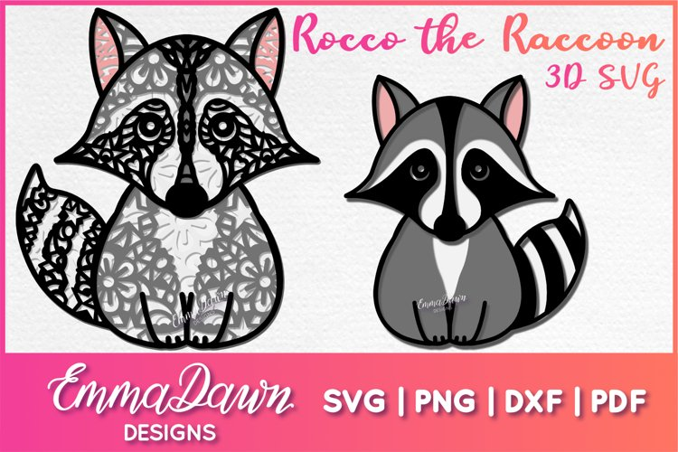 Rocco the Raccoon 3d SVG