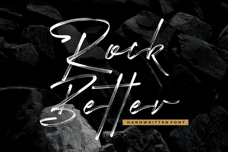 Rock Better - Handwritten Font example image 1