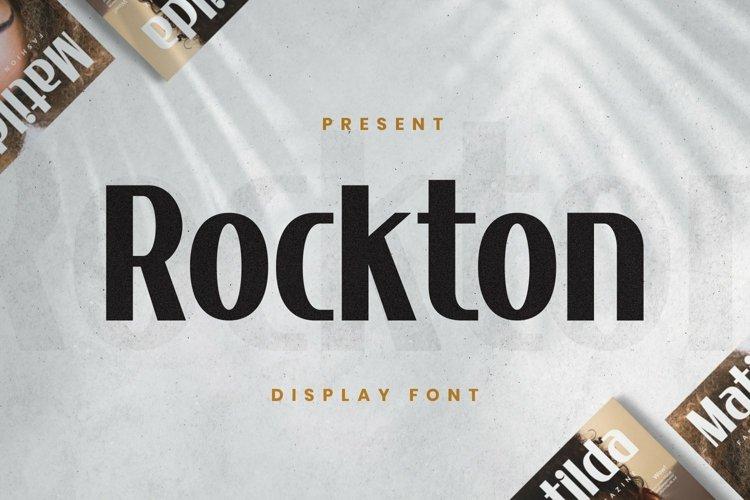 Web Font Rocktone Font example image 1