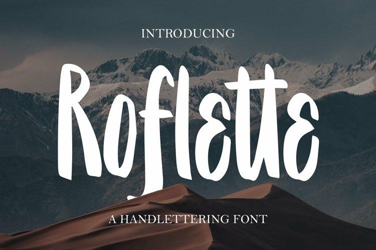 Web Font Roflette - A Handlettering Font example image 1