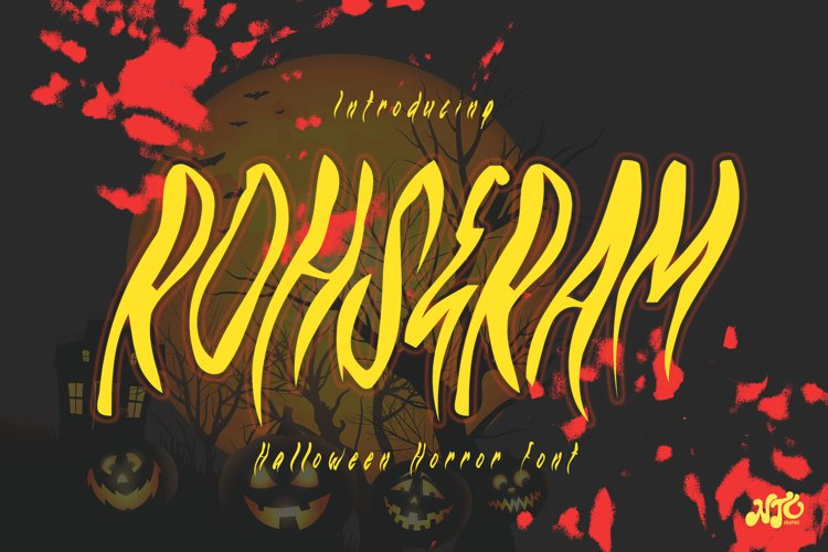 ROHSERAM - Halloween Horror Font example image 1