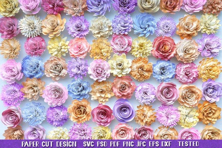 Rolled Flowers SVG,3D Paper Flowers SVG,Rolled Flower Bundle