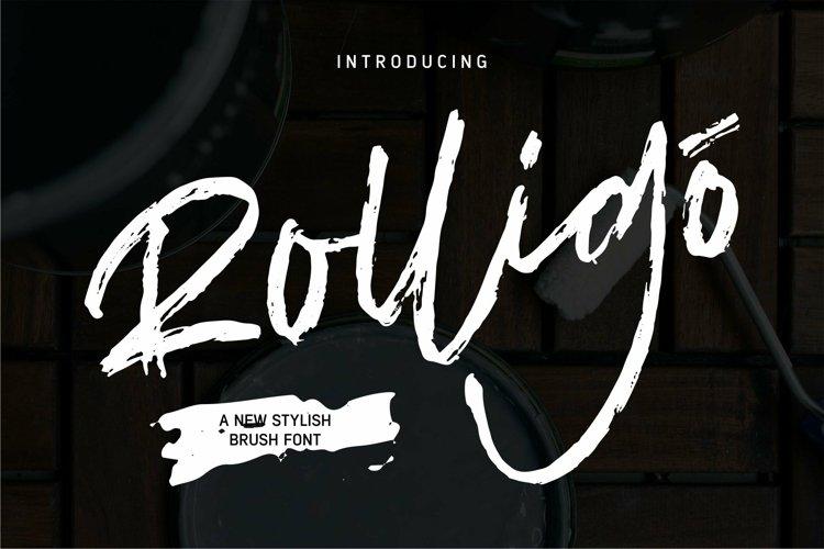 Web Font Rolligo - A New Stylish Brush Font example image 1