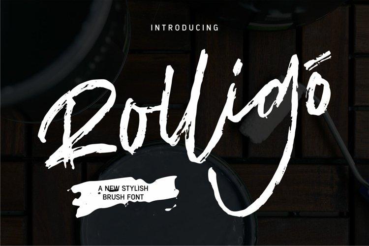 Rolligo - A New Stylish Brush Font example image 1