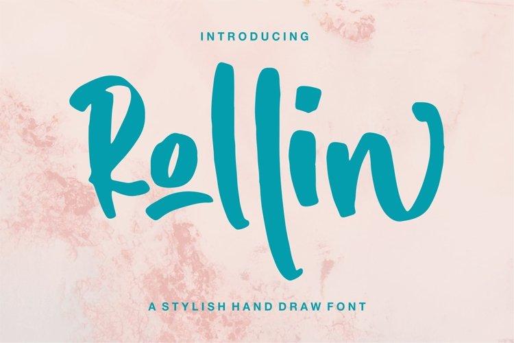 Rollin - A Stylish Hand Draw Font