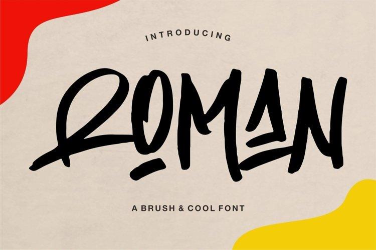 Web Font Roman - A Brush & Cool Font example image 1