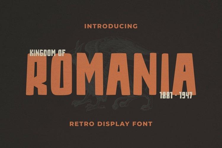 Web Font Romania Font example image 1