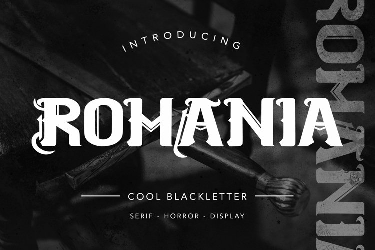 Web Font Romanian - Cool Blackletter Font example image 1