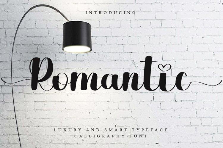 Romantic - Luxury Calligraphy Font example image 1