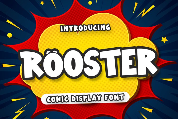 Rooster - Comic Display Font example image 1