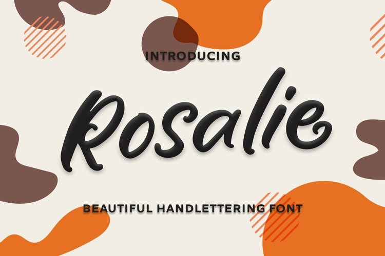 Web Font Rosalie - Beautiful Handlettering Font example image 1