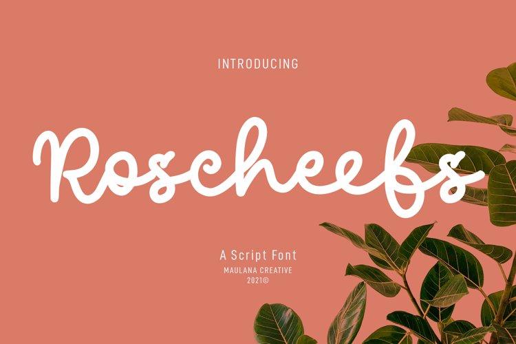 Roscheefs Script Font example image 1