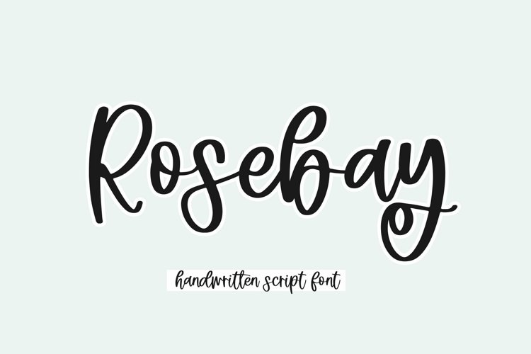Web Font Rosebay - Handwritten Script Font example image 1