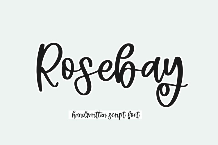 Rosebay - Handwritten Script Font example image 1