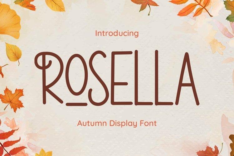 Web Font Rosella example image 1