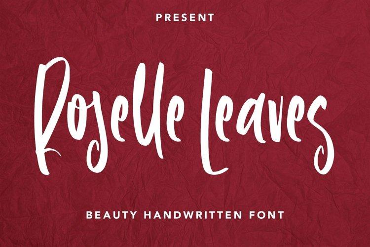 Web Font Roselle Leaves - Handwritten Font example image 1