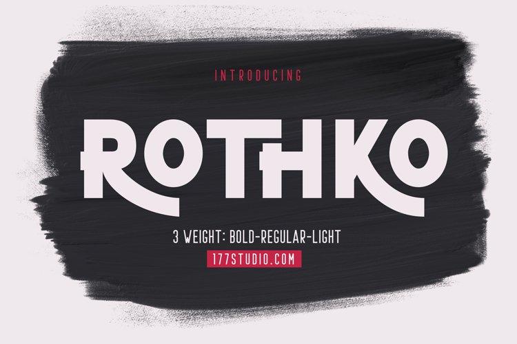 ROTHKO Sans Serif Font example image 1