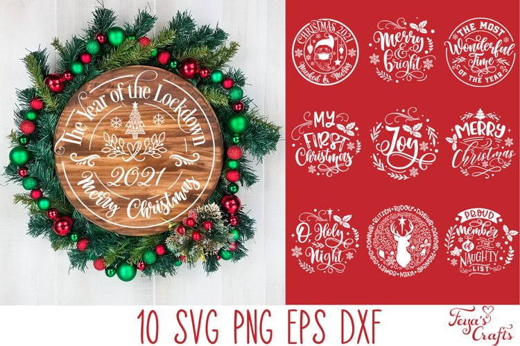 Round Christmas Ornaments SVG Pack   Round Sign SVG Cricut