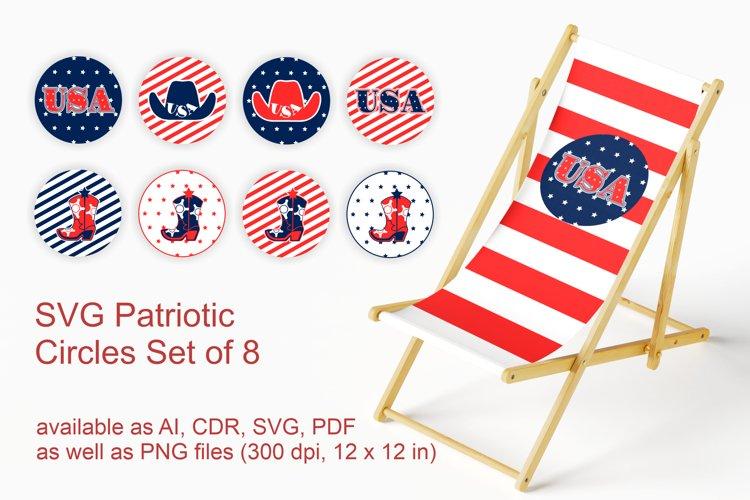 Set of 8 Patriotic Circles SVG Designs