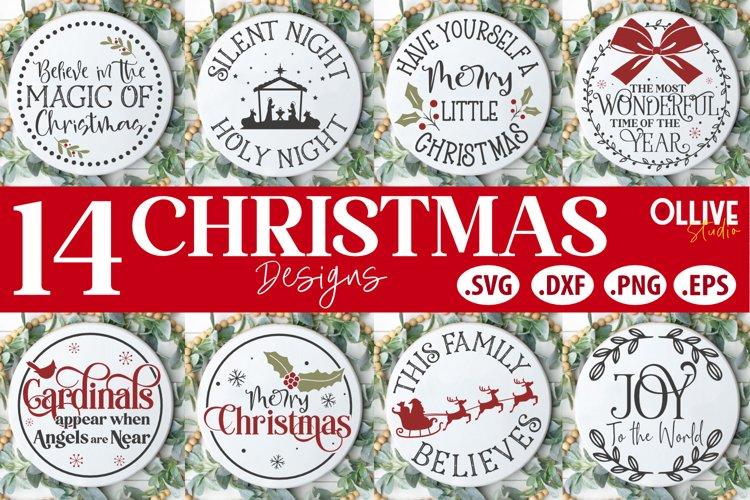 Christmas Door Signs Bundle | Christmas SVG example image 1