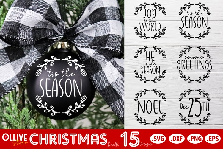 Christmas Ornaments SVG | Christmas Bundle SVG