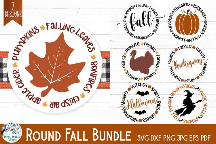 Round Fall SVG Bundle | Thanksgiving, Halloween, Autumn