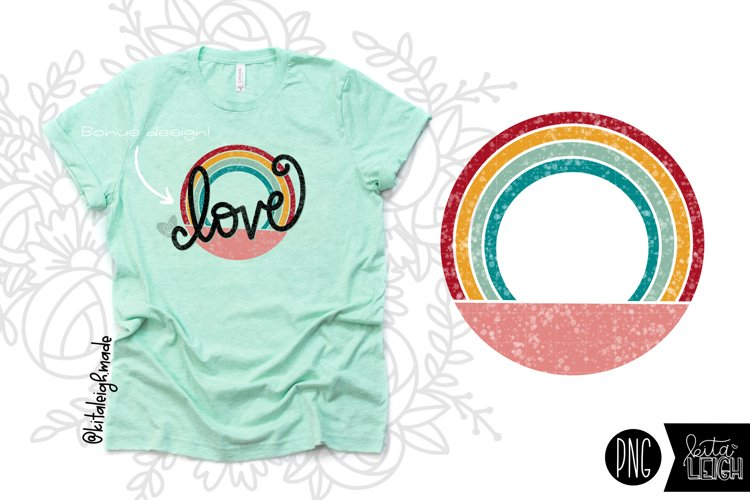 Round Vintage Rainbow for Sublimation/Print Backgrounds