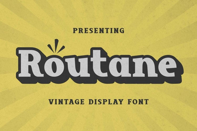Web Font Routane - Display Font example image 1