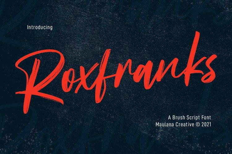 Roxfranks Brush Script Font example image 1