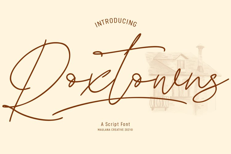 Roxtowns Script Font example image 1