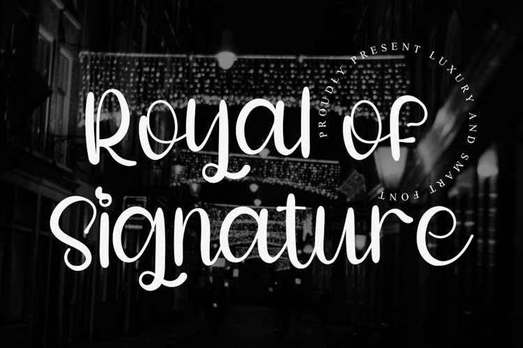 Royal of Signature - A Luxury Font example image 1