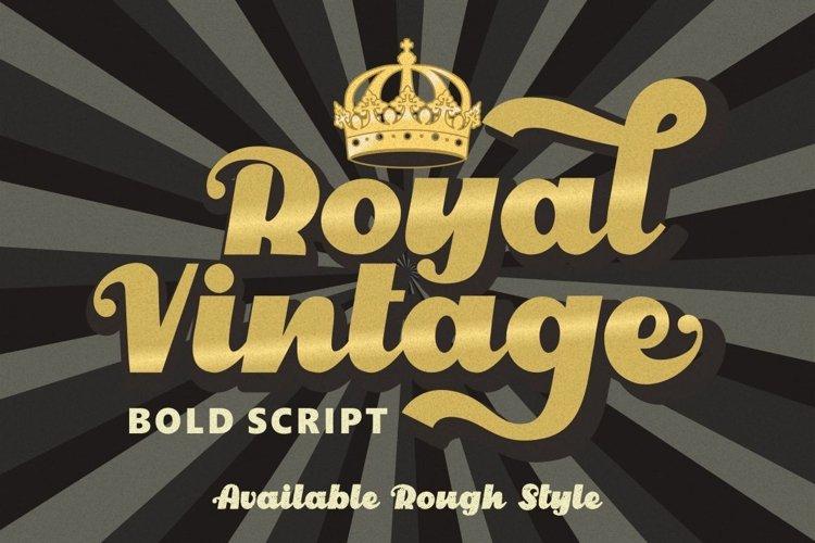 Royal Vintage - Bold Retro Font example image 1